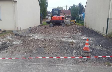 Réalisation d'accès chantier près de Lens et Arras